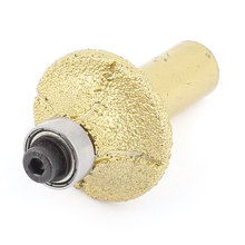 UXCELL Gold Tone 31Mm Dia Bullnose Diamond Profile Wheel Router Bit For Marble