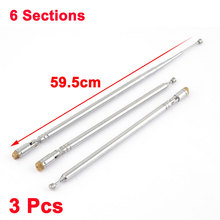 "UXCELL Product Name 3 Pcs 59.5Cm 23"" 6 Sections Fm Radio Tv Telescopic Antenna Replacement aerial 