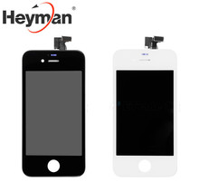 Heyman LCD Screen and Digitizer Full Assembly Front Housing Replacement for Apple iPhone 4/4S black/white Free shipping+tools(China)