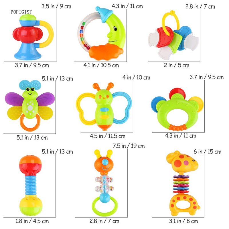 Baby-9pcs-Baby-s-First-Rattle-and-Teether-Toy-with-Giant-Milk-Bottle-Grasp-Colorful-Toys