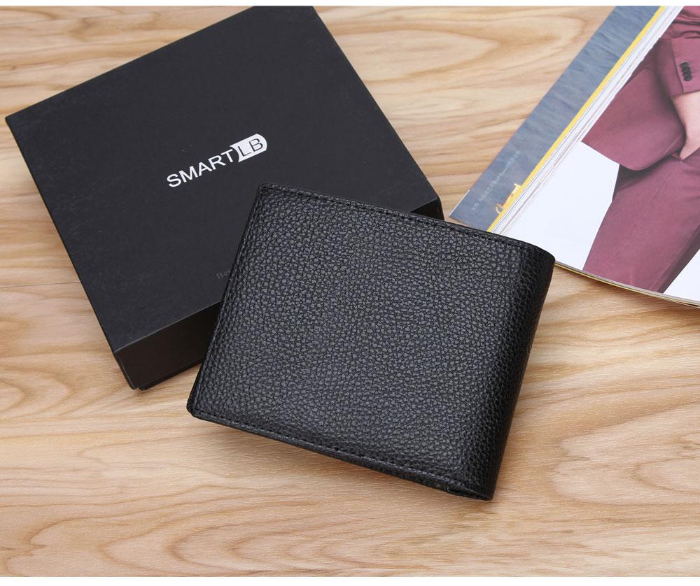 محفظة جلدية ذكية مضادة للضياع مع جهاز تتبع مربوط بالهاتف عبر البلوتوث 11