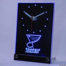 tnc0548 St Blues Table Desk 3D LED Clock