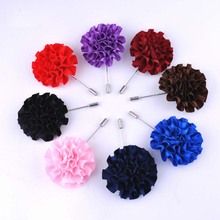 Fashion Handmade Fabric Brooch Wedding Brooch Bouquet Gentlemen Lapel Pins Fashion Flower Brooch for Men Suit Men Lapel Pin