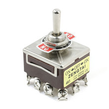 Uxcell Panel Mount 4Pdt 3 Position Latching Toggle Switch 15A 250Vac 10A 380Vac 4pin | 6pin | pin(China)