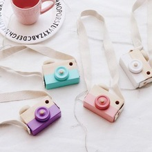 Baby Kids Cute Wood Camera Toys Children Fashion Clothing Accessory Safe And Natural Toys(China)