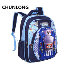 CHUNLONG Russia Style Orthopedic 3D Car Cartoon School bags Backpacks For Boys Waterproof Backpack Child Kids School bag(China)