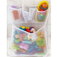1PCS Bathroom Mesh Net Storage Bag Baby Bath Bathtub Toy Mesh Net Storage Bag Organizer Holder For Home 53*41cm