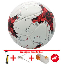 2017 Russian cup Official size 5 Football ball Material PU durable soccer ball Professional Match Training futbol free inflator