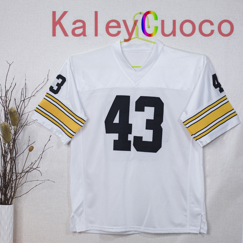 Retro star #43 Troy Polamalu Embroidered Throwback Football Jersey M&N 48 50 52 54 56 Jerseys(China (Mainland))