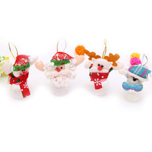 2017 Christmas Cute plush toys Candy Jar Sugar money box Santa Gifts Ornaments navidad new year Christmas Decoration for home