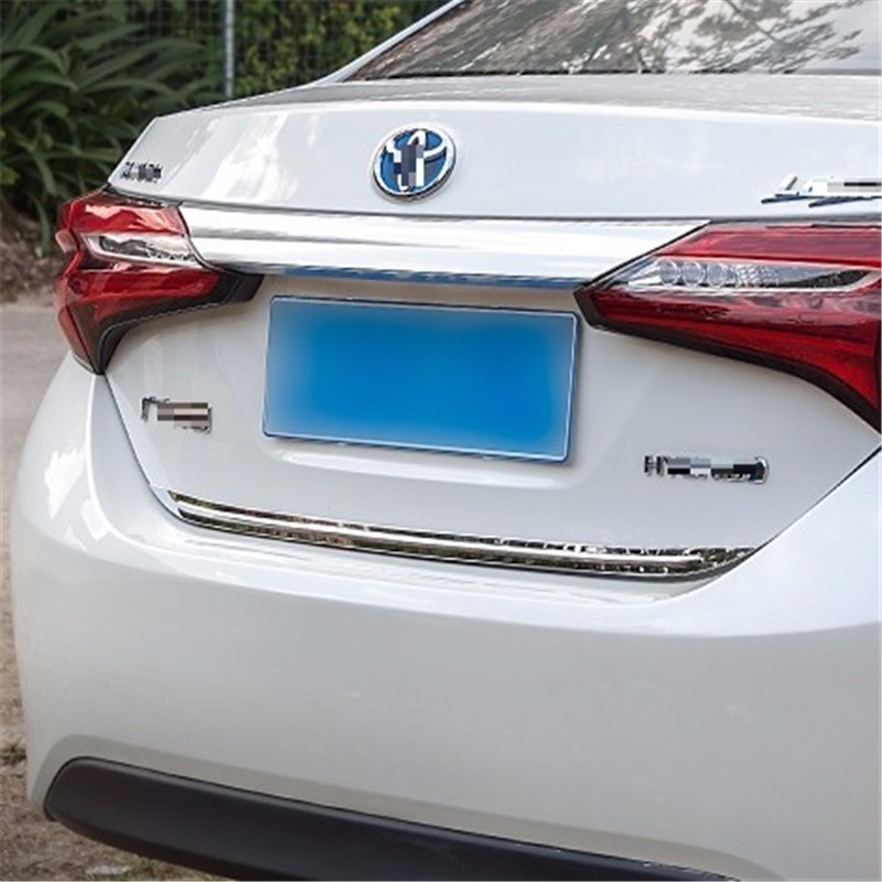 Rear Door Trunk exterior promote decorative modified mouldings sticker strip car styling decoration accessories FOR Toyota Levin(China)