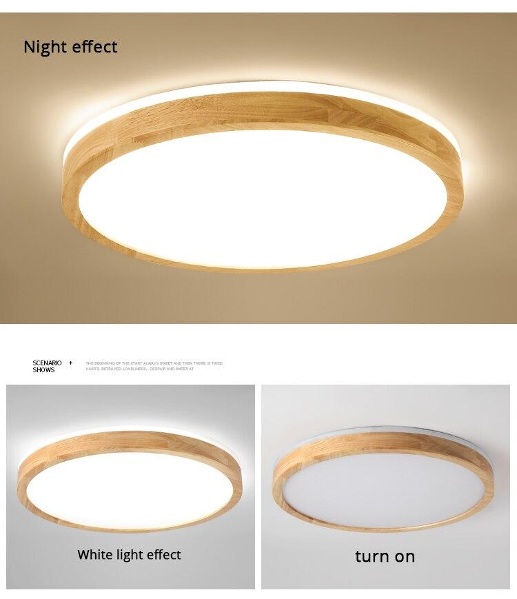 q (12)Ceiling Lights Wood