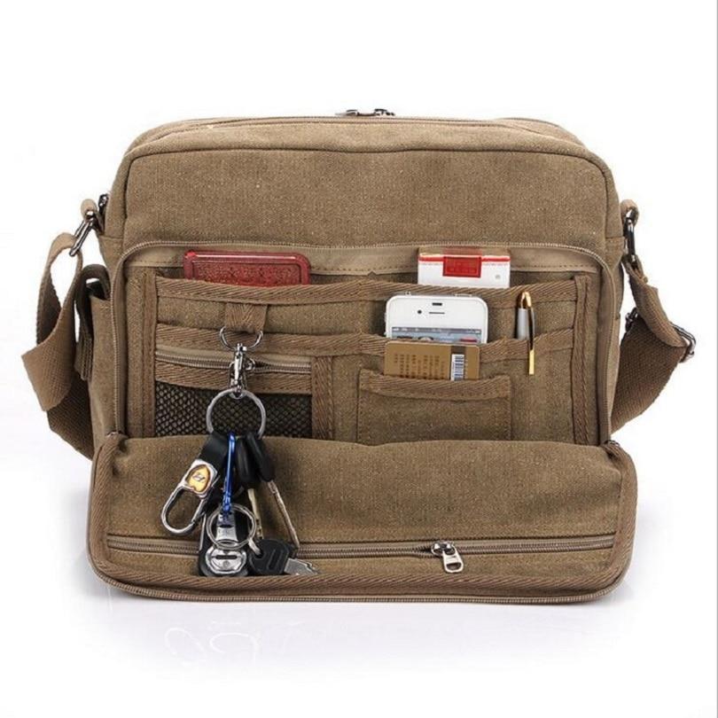 The new high-quality mens canvas bag one-shoulder bag man slanted pure cotton leisure travel ipad bag canvas messenger bag<br>