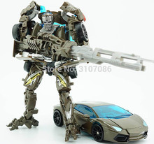Transformation KBB Brown & Black Lockdown Car Movie Models Alloy Metal Action Figure Children Robot Toys(China)