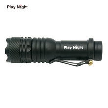 PLAY NIGHT CREE XM-L Led Rechargeable Flashlights LED Lamps  Camping Torch 3 modes Flash Lights Zoomable Focus Lantern