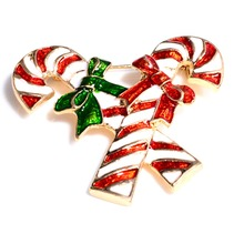 Christmas Battle Bowknot Brooch With Rhinestone For Women Jewelry Pins alloy lead needle manufacturers candy double cane brooch(China)