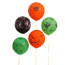 Halloween Supplies New Arrive Loween Balloons Festive Decorations Site Layout Thick Terror Black Orange White Balloons(China)