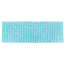 X Autohaux Car Vents Ornament Cyan Glitter Self Adhesive Plastic Crystal Stickers Sheet