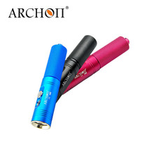 New ARCHON V10S Waterproof XM-L U2 MAX 860 LM Professional 3 Color Diving LED Flashlight Torch By 18650 Battery