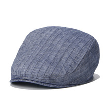 News boy Caps Cotton Unisex Summer Spring Hat Cap Ajustable Solid Striped Check Pattern Free Shipping Wholesale Retail(China)