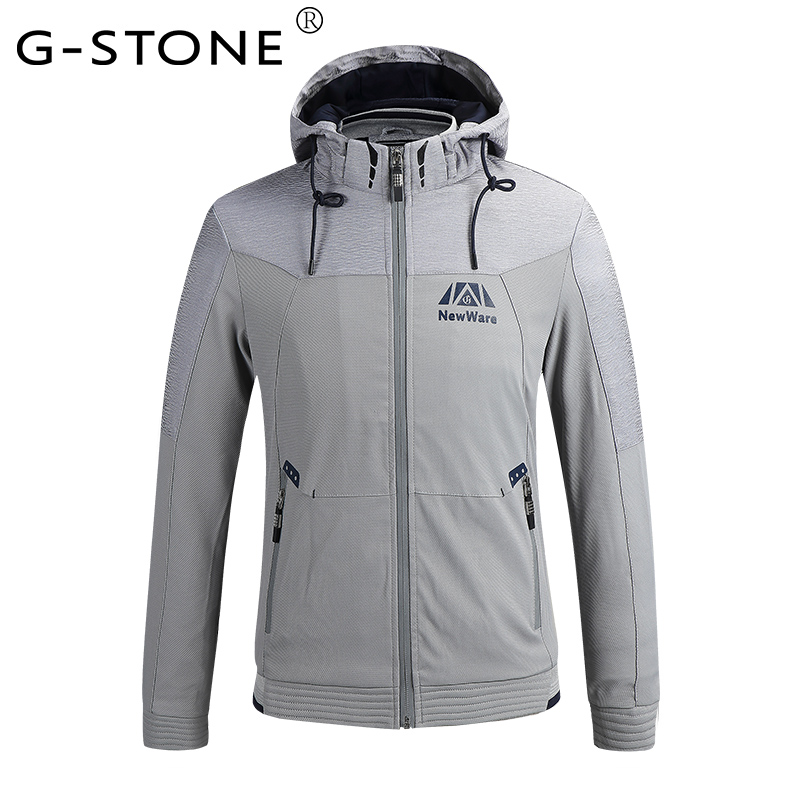 G-stone Men's Fall Jacket Casual Wear Thin Coat Fashionable Body Type High Quality Products GS829 M-2XL(China (Mainland))