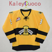KALEYCUOCO Brandon Wheat Kings #9 ivan provorov Stitched Yellow Hockey Jersey