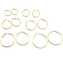 6 Pairs Fashion Circle Hoop Earrings Women Celebrity Eardrop Jewelry Gift