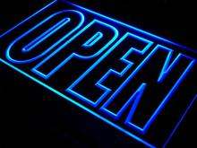 i097 OPEN Shop Display Cafe Business LED Neon Light Sign On/Off Switch 7 Colors 4 Sizes
