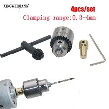 Micro Motor Drill Chucks Clamping 0.3-4mm Jt0 Taper Mounted Drill Chuck With Chuck Key 3.17mm Brass Mini Electric Motor Shaft