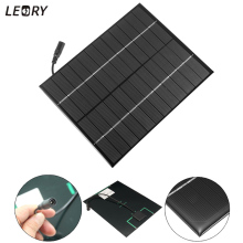 LEORY 12V/18V 6W Semi Flexible Solar Panel Charger For 12V Battery DC Output Solar Cells Battery Charger DIY Solar System Kits(China)