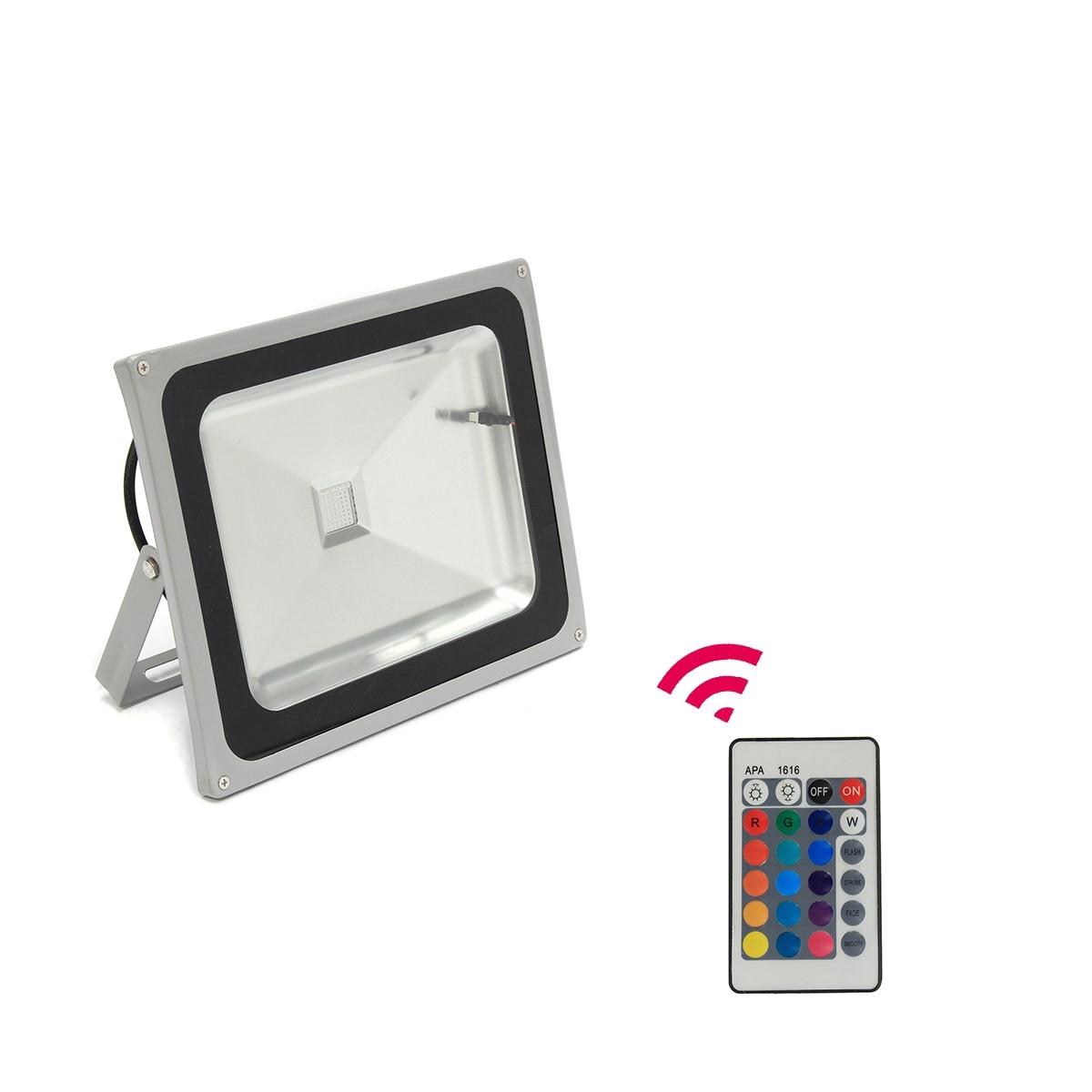 Safurance 50W PIR LED RBG Focos Reflectores Colores 16 Colorful Spotlights Floodlights Building Automation<br>