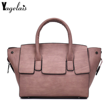 Fashion Solid Color Flap Women Zipper Closer Women Leather Shoulder Bags Handbag Daily Casual Crossbody Casual Tote Women bolsa(China)