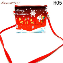 1pcs Fashion Christmas Santa Pants Spirit Candy Shloulder Xmas Decoration Sack Cute Child Gift Handbags(China)