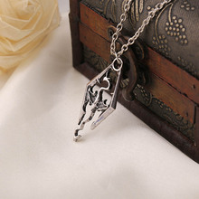 2017 New!!! Dinosaur Pendant Necklace Skyrim Elder Scrolls Dragon Pendants Vintage Necklace For Men/women Jewelry Hot Selling(China)