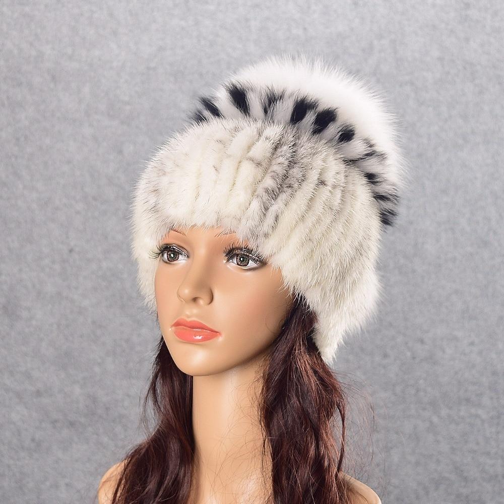 eal mink fur hat knitted hat for winter women beanie fur skullies beanies 100% Natural Genuine fur caps thick warmÎäåæäà è àêñåññóàðû<br><br>