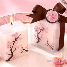 PKR 984.28  12%OFF | Home Decor Candles Simulation Creative Birthday Colorful Cherry Blossoms Wedding Gifts flowers Candle 2pc/LOT