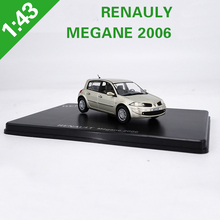 New 1:43 Renault Megane 2006 Hatchback Alloy Car Model Metal Diecast RENAULY For Kids Gifts Collection FreeShipping(China)