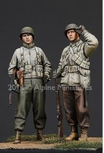 1/35 Resin Figure Model Kit American infantry 2 figures Unassambled Unpainted(China)