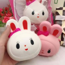 11.5CM Kawaii Bunny Squeeze Anti Stress Toy Funny Slow Rising Jumbo Scented Rabbit Pancake Toy Gift 1PC Color Random(China)