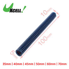 Uxcell Od 10Mm Id 5Mm Light Load Spiral Stamping Compression Spring Blue For Plastic Injection Mold Die Long . | 100mm | 35mm |(China)