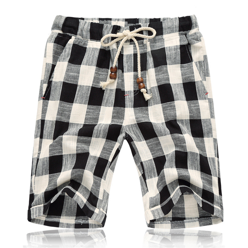 Brother-Wang-Brand-2018-Summer-New-Men-s-Shorts-Fashionable-Casual-Bermuda-Plaid-Shorts-Pure-Cotton