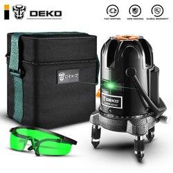 DEKO DKLL50-S1 5 линий 6 точек лазерный уровень зеленые лазерные линии многоцелевой перекрестный режим наклона на открытом воздухе может работать ...