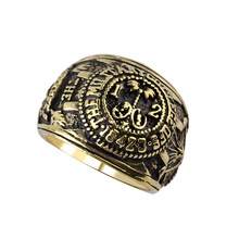 personalized rings gift House of Cards ring Frank's Ring vintage retro antique alloy jewelry for men and women wholesale