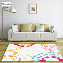 Carpet For Bedroom Living Room Abstract Stars Circles Pentagons Geometrical Decorations Pattern Shapes Texture Yellow Brown Red