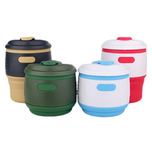 1 Pc Silicone Folding Cup Easy To Carry Outdoor Traveling Drinking Cup Foldbale Save Space Tableware Cup Hot Selling Teacups(China)