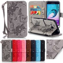 For Coque Samsung Galaxy J3 2016 Case Leather Wallet Cell Phone Cases Samsung Galaxy J3 6 2016 Case Flip 3D Diamond Bling Cover<