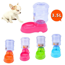 TINGHAO Large 3.5L Automatic Pet Food Drink Water Dispenser Dog Cat Feeder Bowl Dish(China)