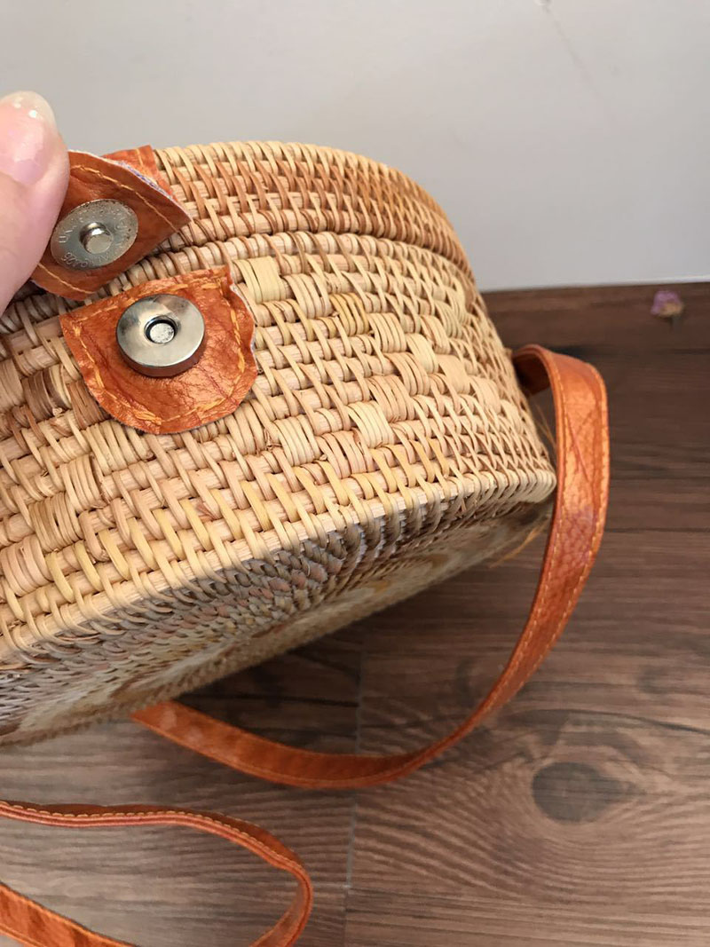 Women Straw Bags Bohemian Bali Rattan Female Beach Shoulder Bag Vintage Small Circle Summer Handmade Crossboday Bag SS3003 (1)