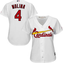 MLB Women's St. Louis Cardinals Yadier Molina Scarlet Alternate Cool Base Player Jersey(China)