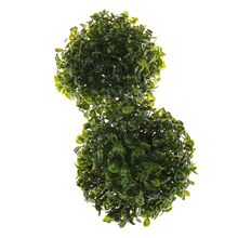 MENGXIANG Artificial Plant Ball Topiary Tree Boxwood Home Christmas Outdoor Wedding Party Decoration 15 cm(China)